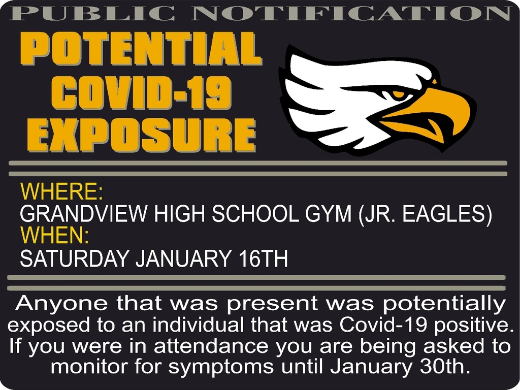 Jr Eagles COVID-19 Alert