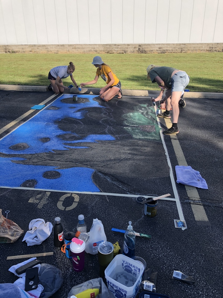 Senior Parking Spot Painting Day