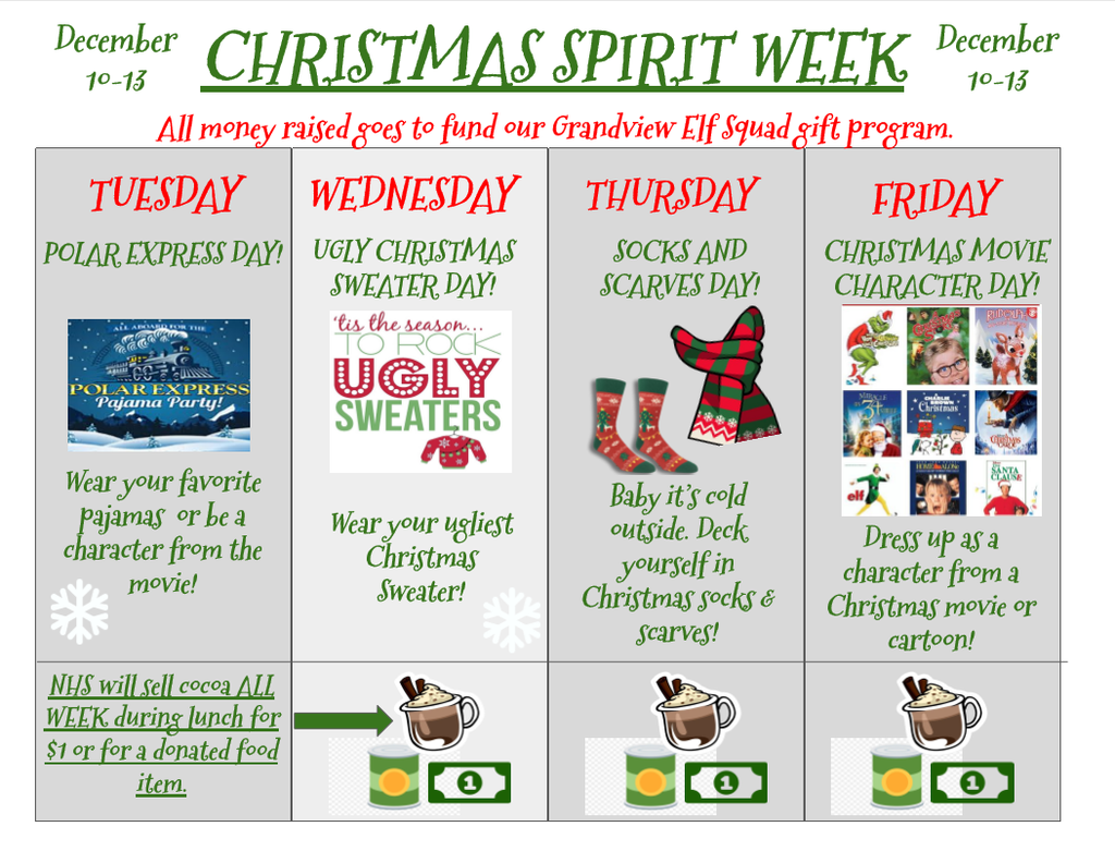 Christmas Spirit Week