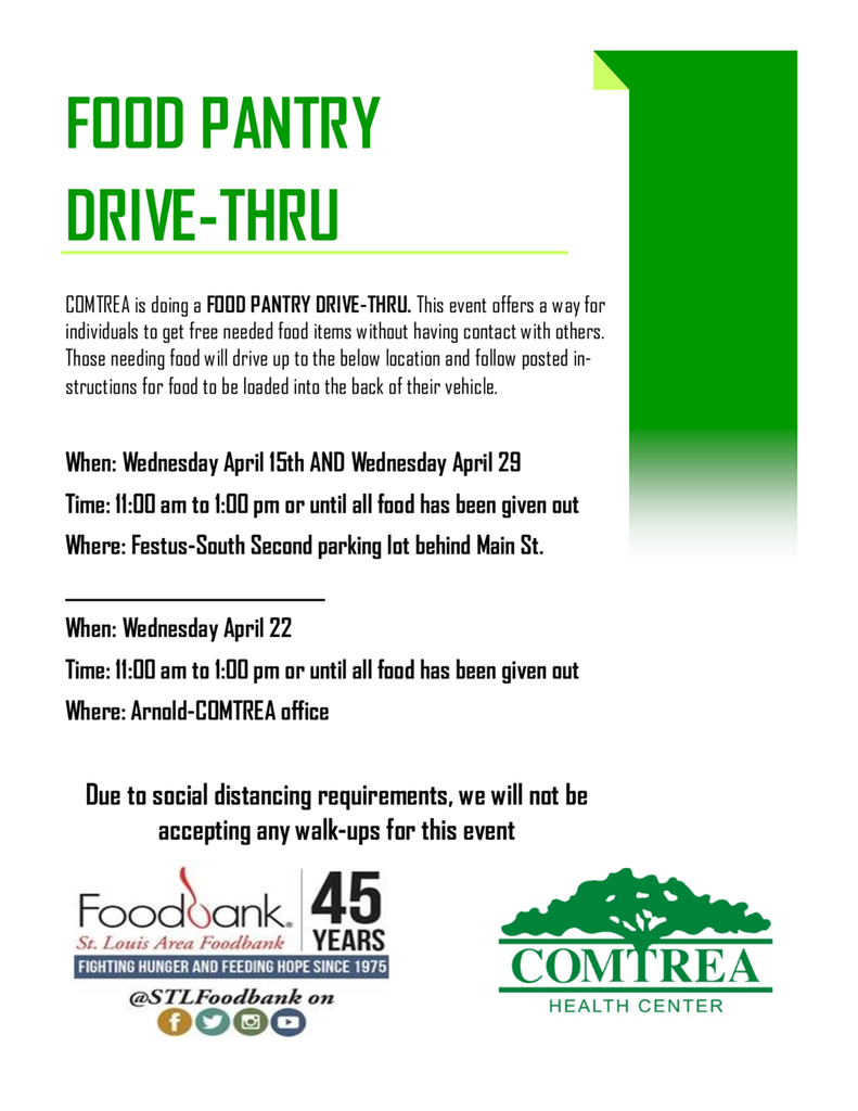 Comtrea Food Pantry Drive Through